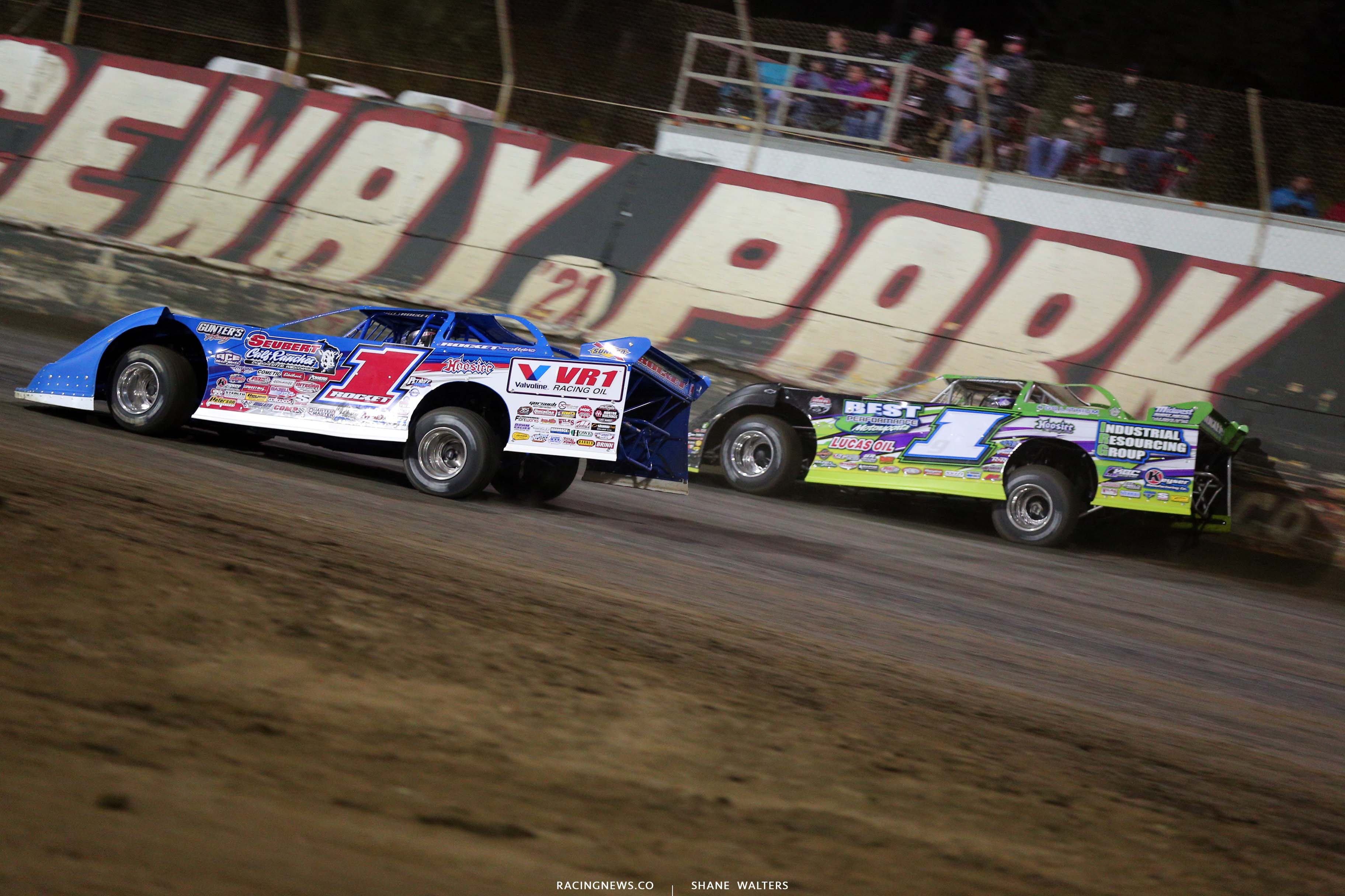 Brandon Sheppard and Tyler Erb at East Bay Raceway Park - Lucas Dirt 8878