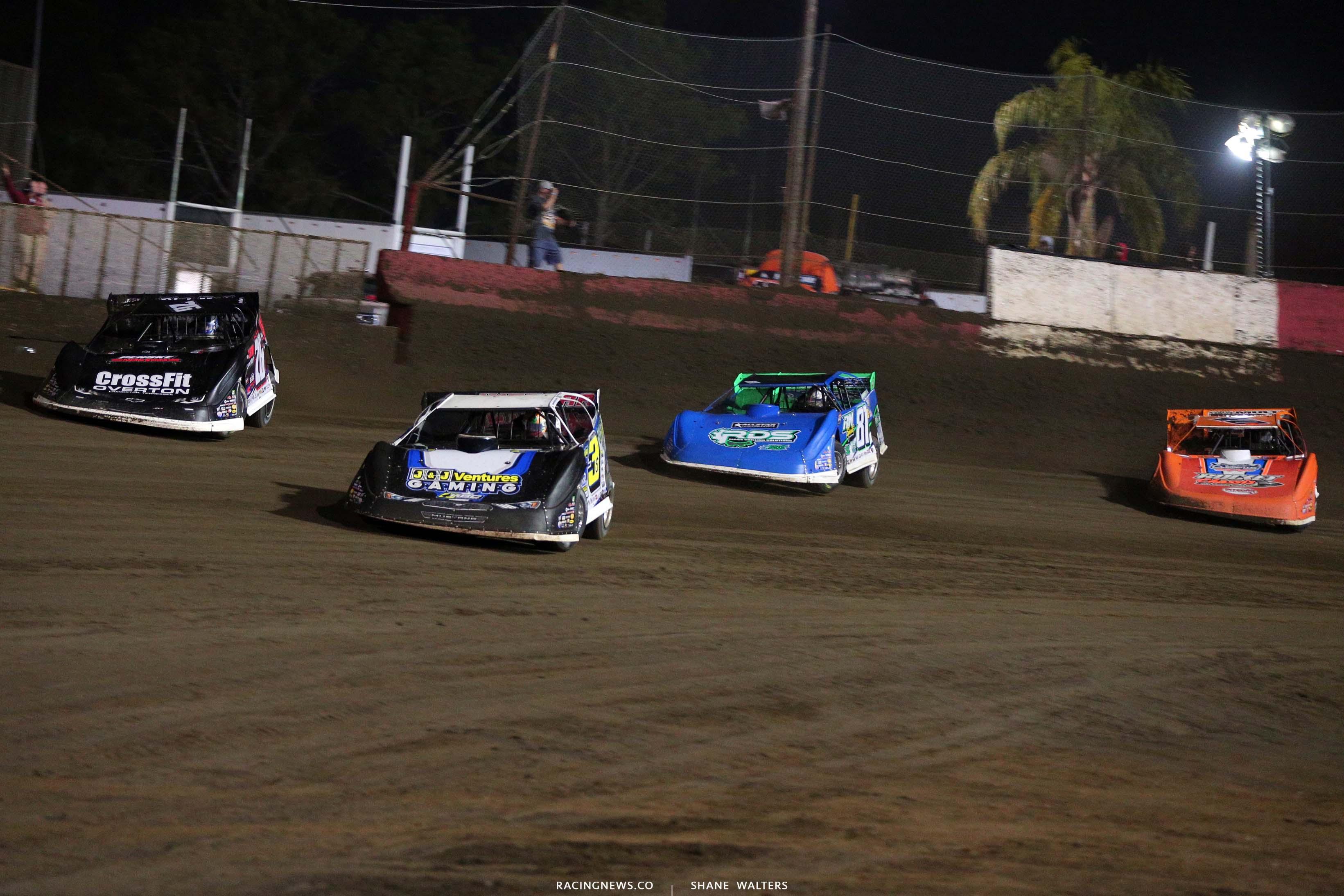 Brian Shirley, Brandon Overton, Tanner English and Kyle Bronson - East Bay Raceway Park - Dirt Track Racing 7868