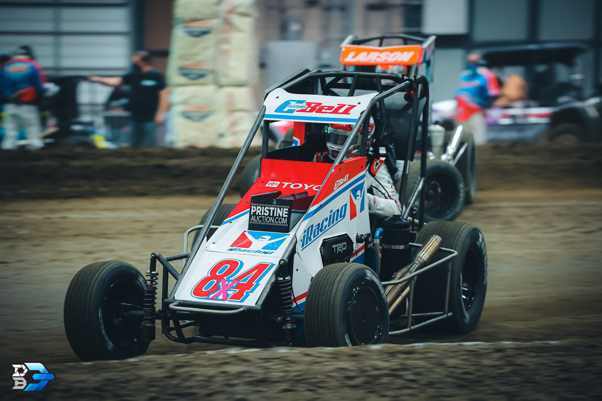 Christopher Bell and Kyle Larson - Chili Bowl Nationals