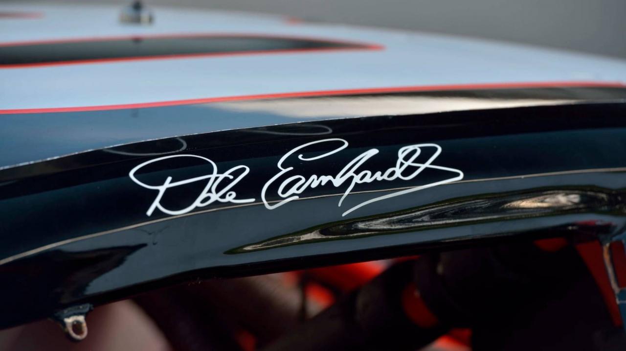 Dale Earnhardt door signature - NASCAR race car