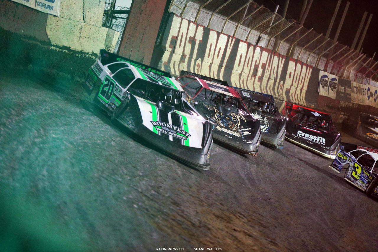 Jimmy Owens, Bobby Pierce, Mason Zeigler and Brandon Overton at East Bay Raceway Park - Dirt Late Model Racing 8539