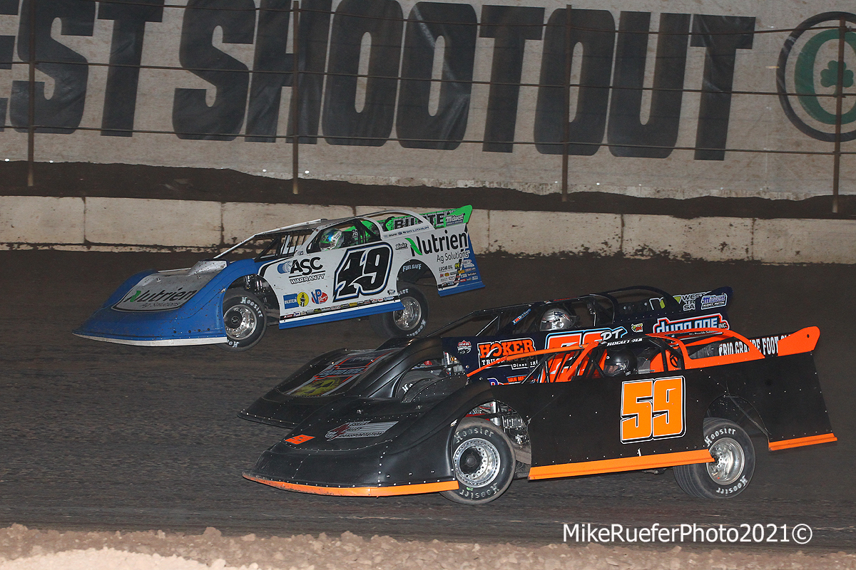 Jonathan Davenport, Ricky Thornton Jr and Garrett Alberson - Wild West Shootout - Arizona Speedway
