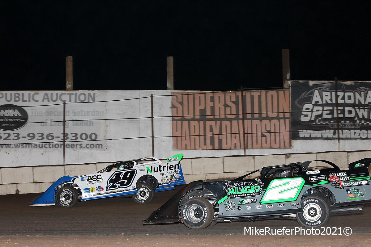 Jonathan Davenport and Stormy Scott - Arizona Speedway - Wild West Shootout
