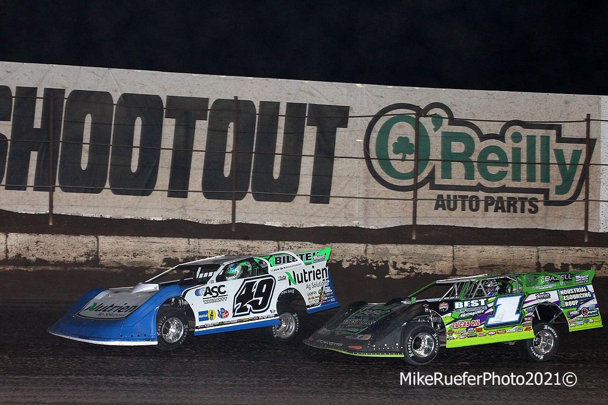 Jonathan Davenport and Tyler Erb - Dirt Late Models - Wild West Shootout - Arizona Speedway