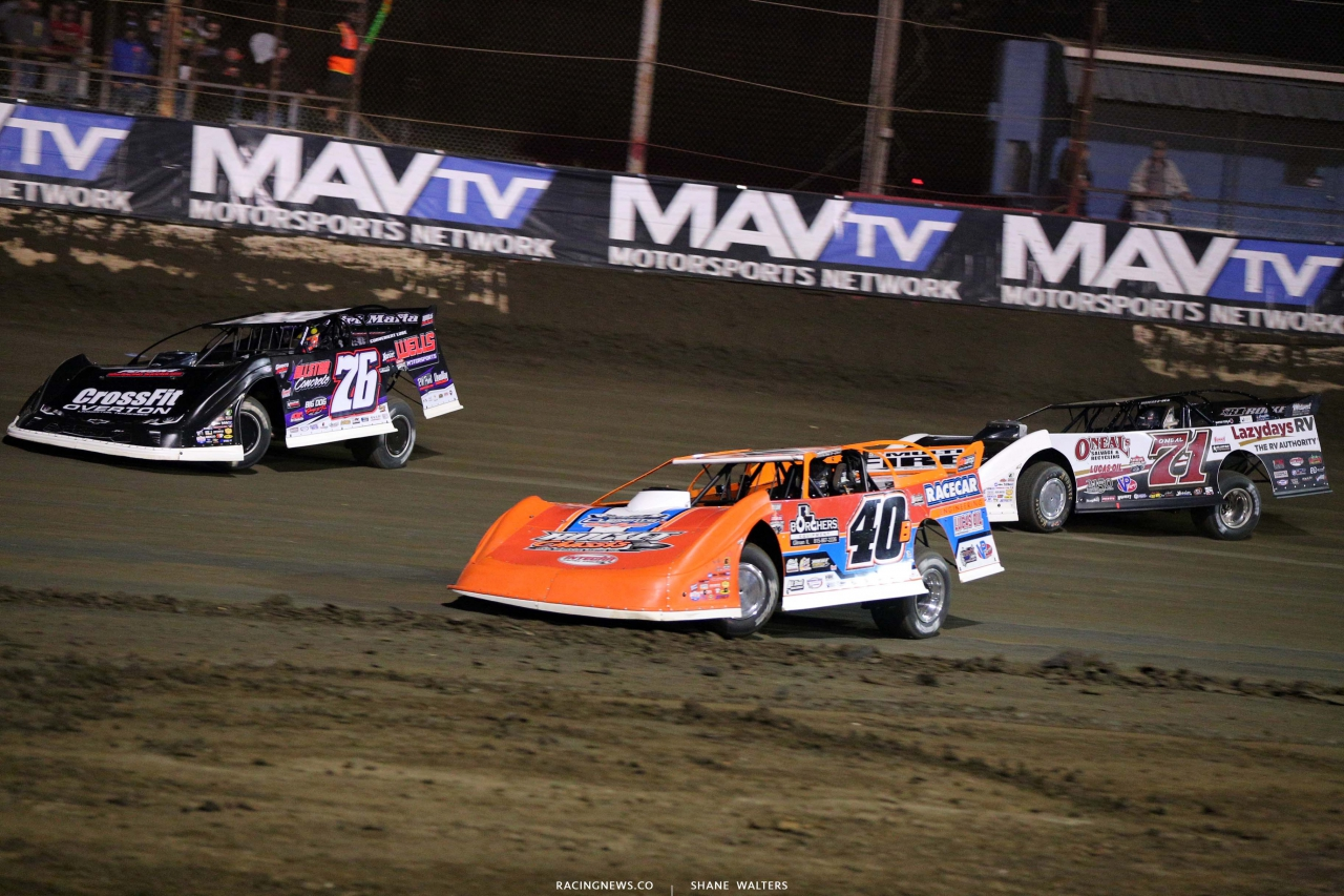 Kyle Bronson, Brandon Overton and Hudson O'Neal at East Bay Raceway Park - Lucas Series 7511