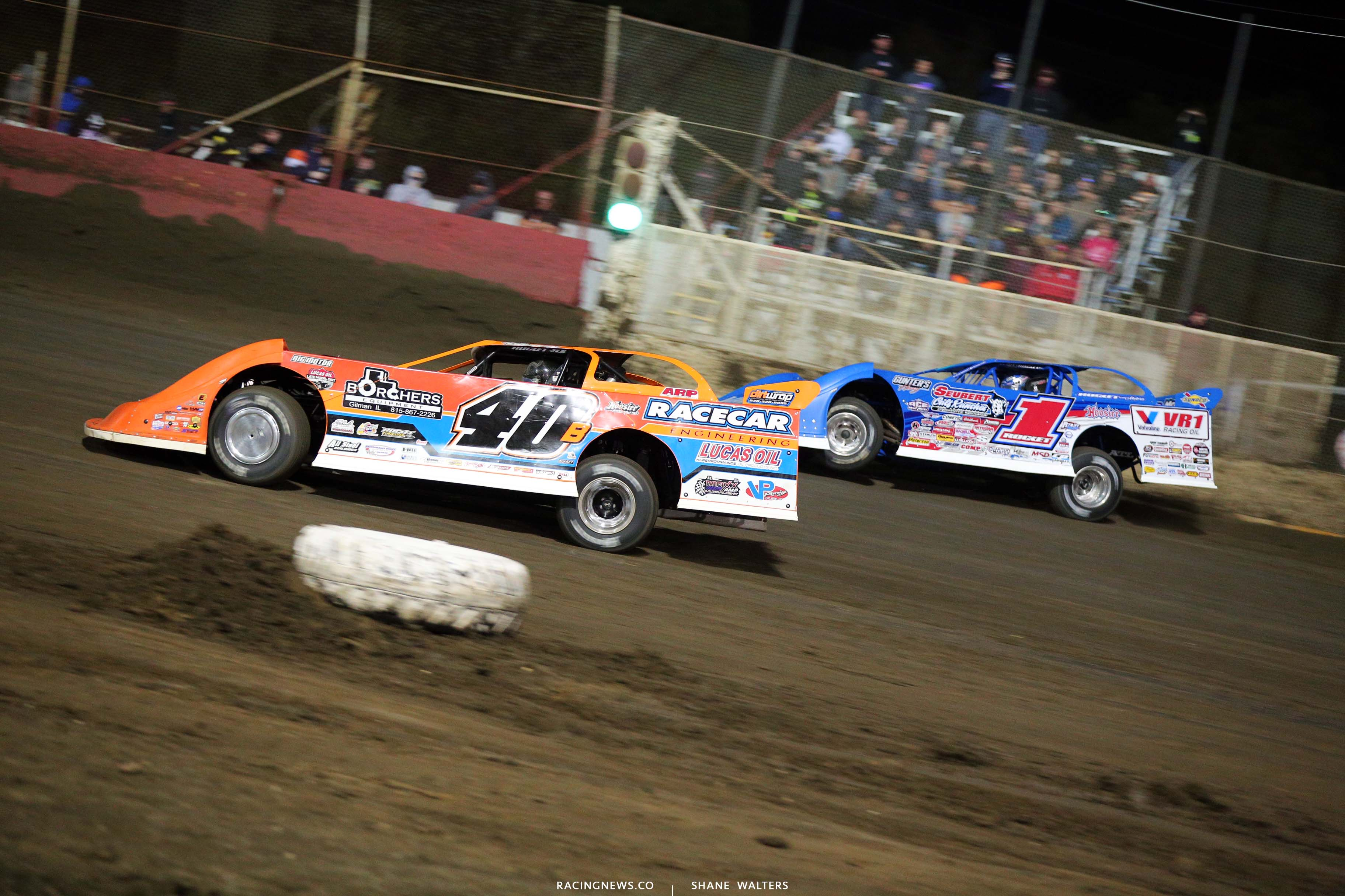 Kyle Bronson and Brandon Sheppard at East Bay Raceway Park - Lucas Late Models 8818