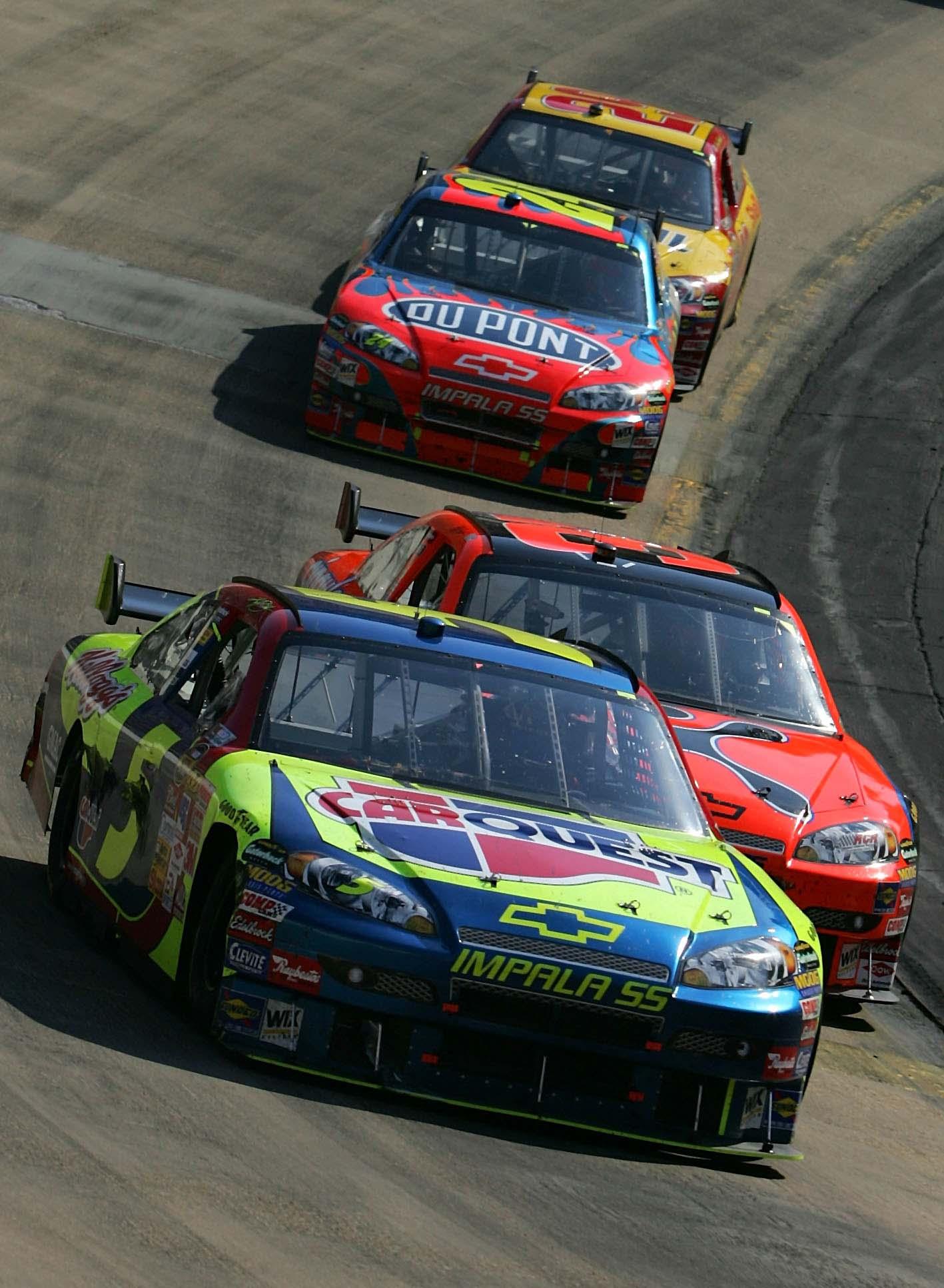 Kyle Busch, Jeff Burton, Jeff Gordon and Kevin Harvick - First COT race - Bristol Motor Speedway - NASCAR