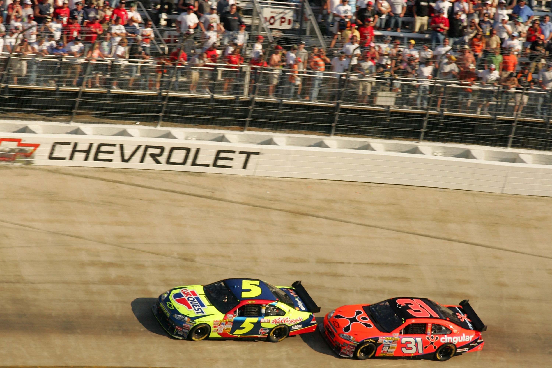 Kyle Busch and Jeff Burton - First COT race - Bristol Motor Speedway - NASCAR