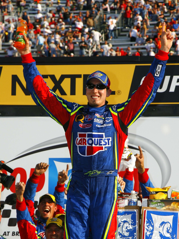 Kyle Busch in victory lane - First COT race - Bristol Motor Speedway - NASCAR