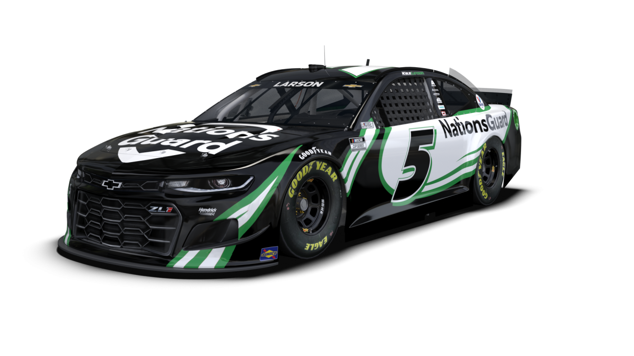 Kyle Larson - 2021 paint scheme - NASCAR Cup Series