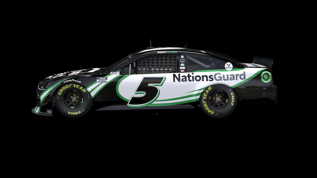 Kyle Larson - Hendrick Motorsports No 5 - Nations Guard