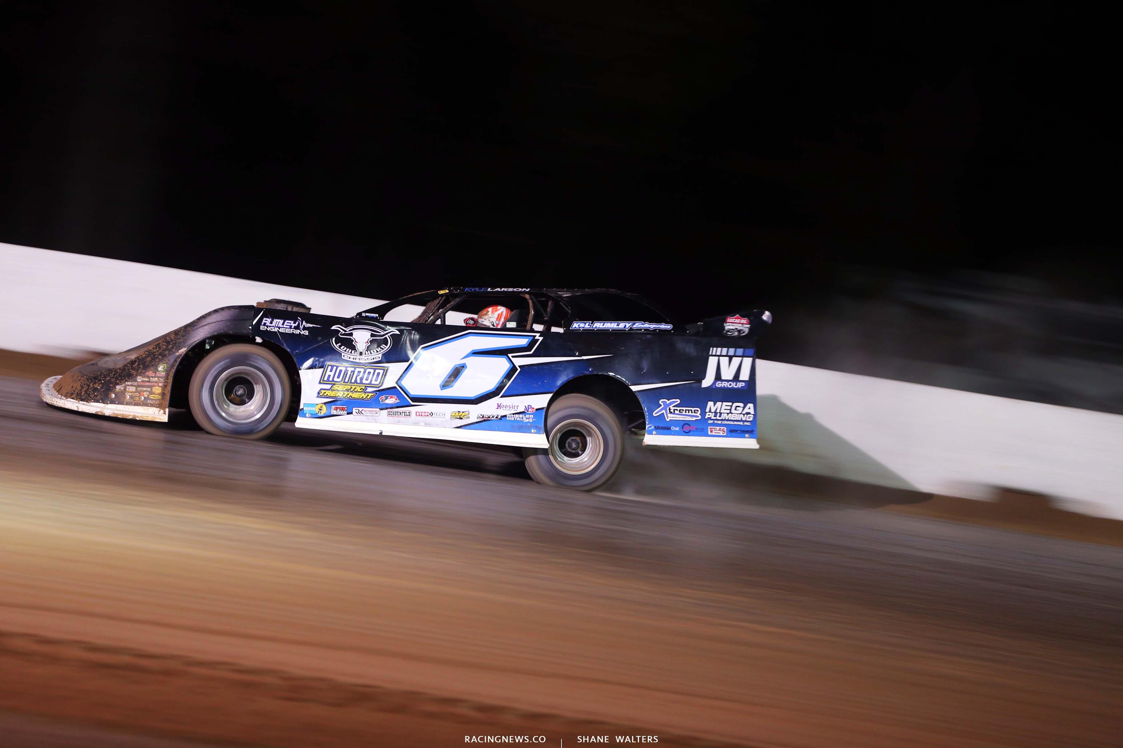 Kyle Larson at All-Tech Raceway - Lucas Oil Late Model Dirt Series 7326