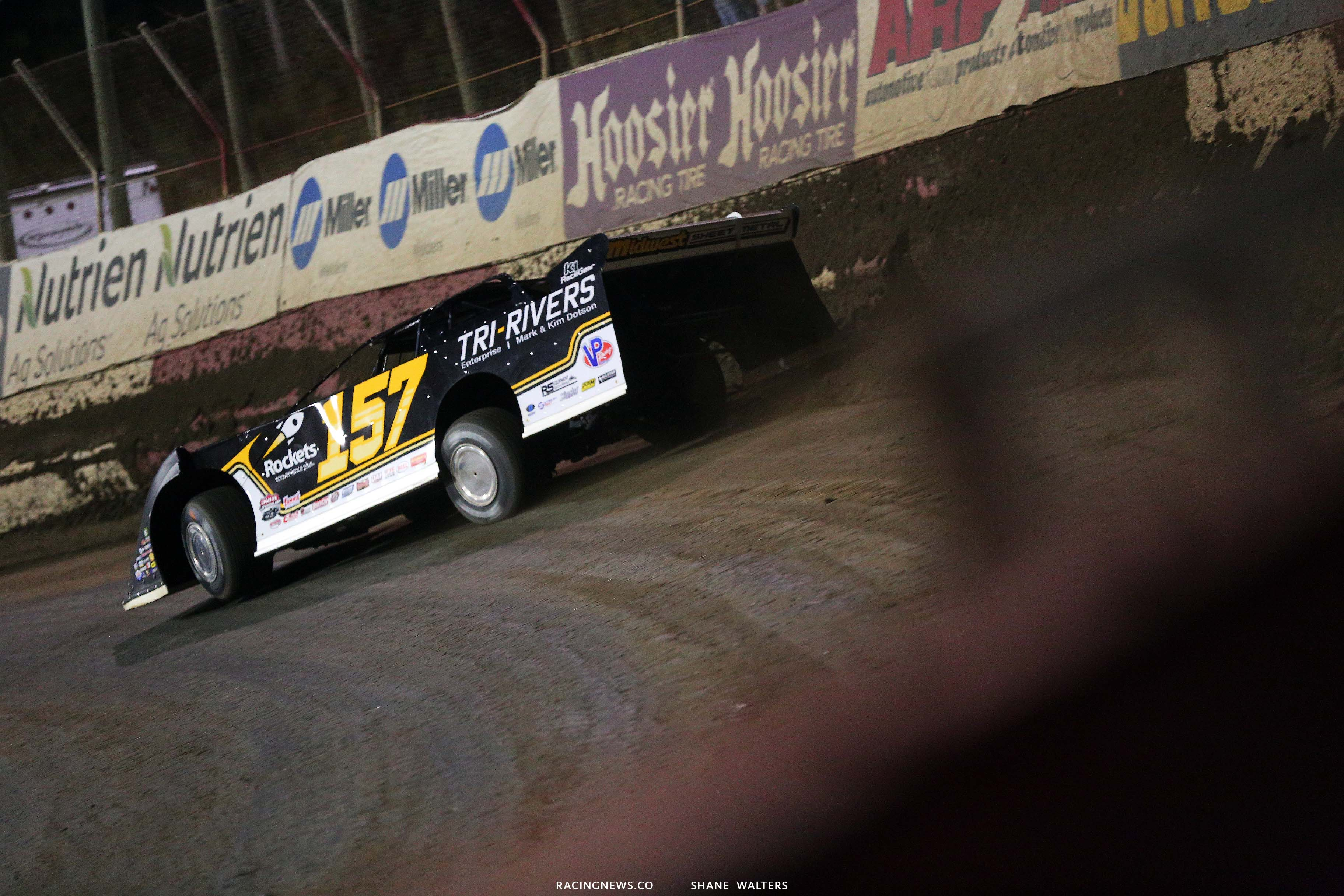 Mike Marlar at East Bay Raceway Park - Dirt Track Racing 8569