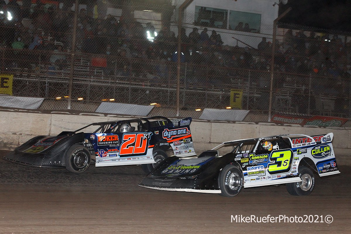 Ricky Thornton Jr and Brian Shirley - Dirt Late Models - Arizona Speedway