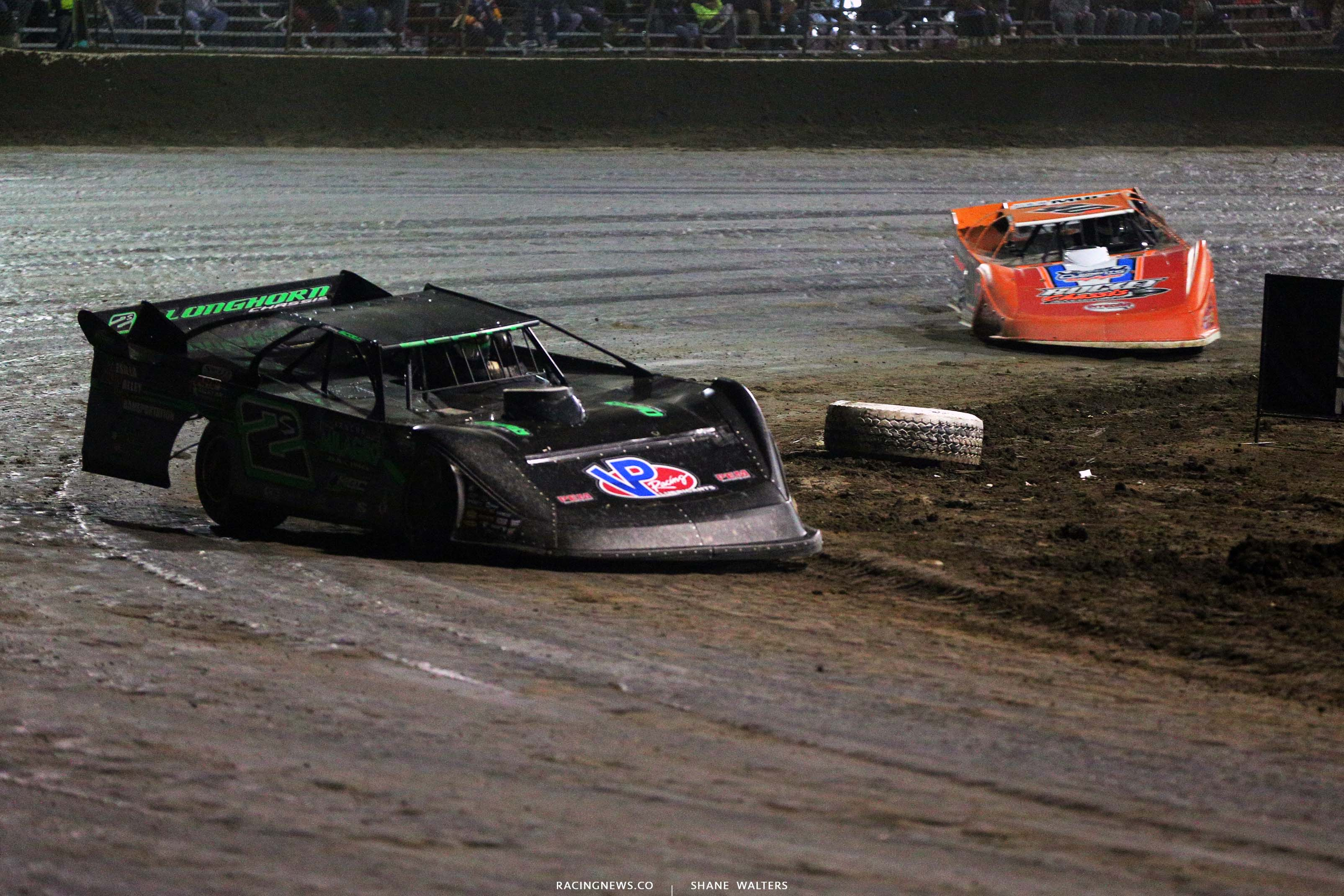Stormy Scott and Kyle Bronson at East Bay Raceway Park - Lucas Series 8105