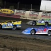 Tim McCreadie, Tyler Erb and Brandon Sheppard at East Bay Raceway Park - Lucas Oil Late Model Dirt Series 8919