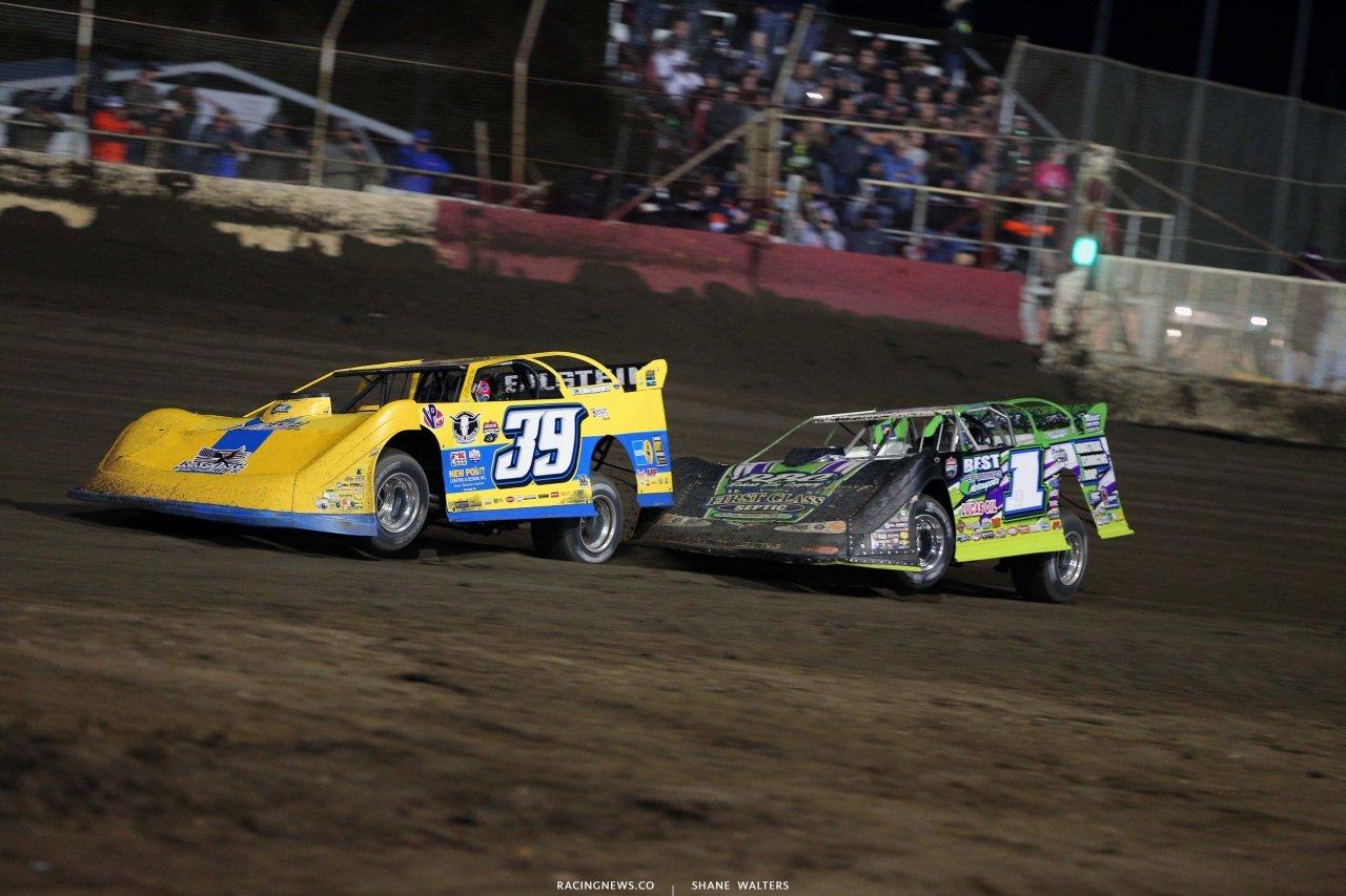 Tim McCreadie and Tyler Erb at East Bay Raceway Park - Tampa Fl dirt track 8897