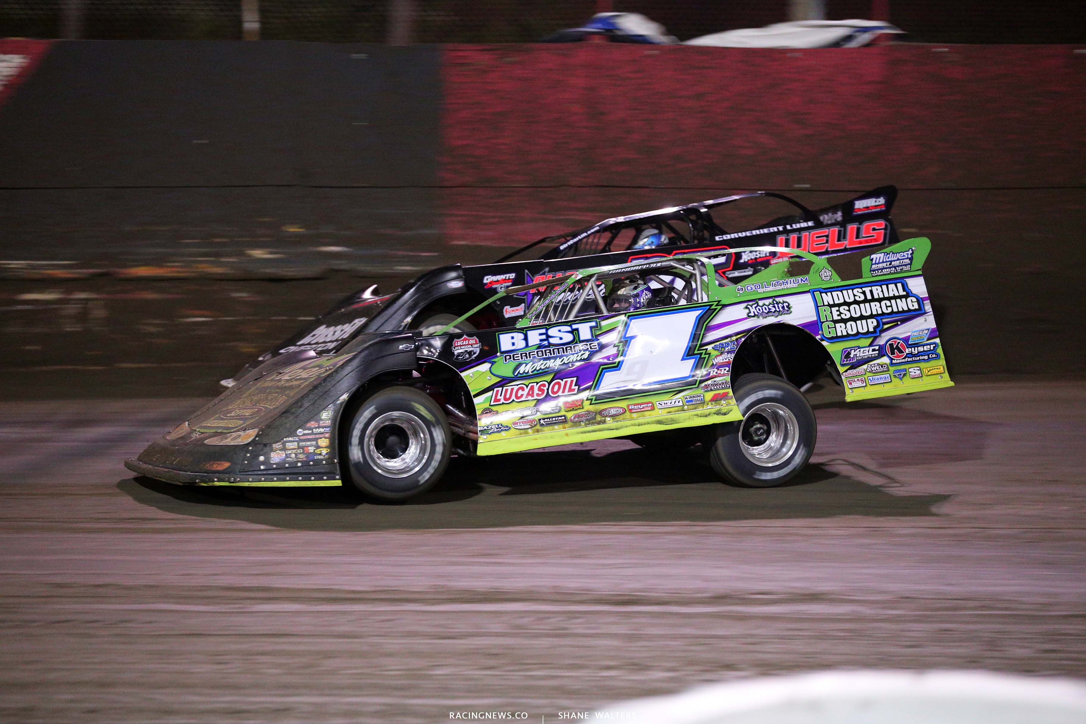 Tyler Erb and Brandon Overton at East Bay Raceway Park - Dirt Late Models 7928