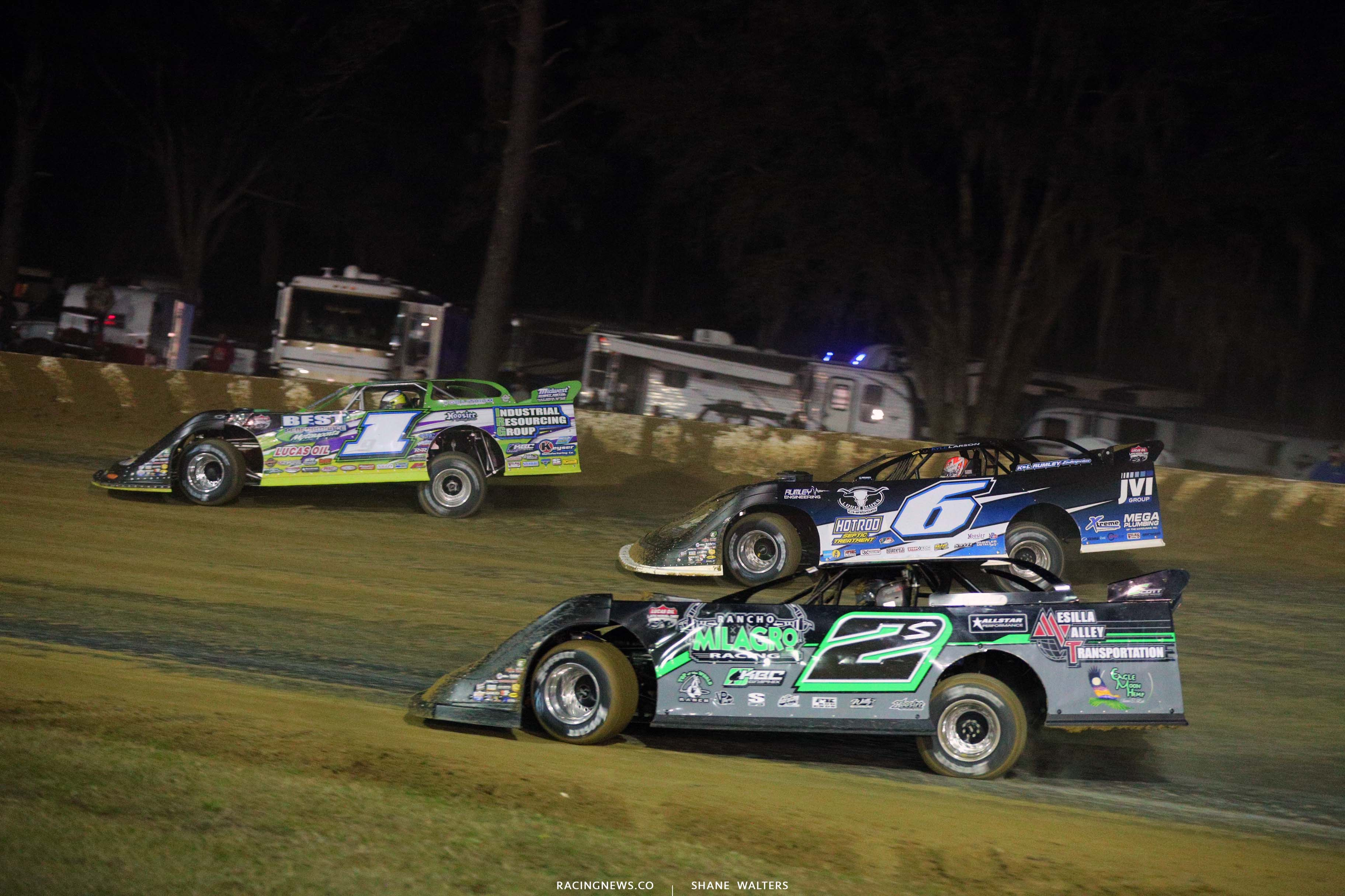 Tyler Erb and Kyle Larson at All-Tech Raceway - Lucas Oil Late Model Dirt Series 7149