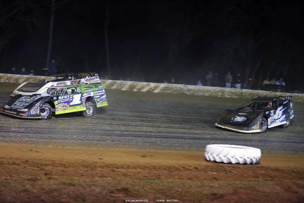Tyler Erb and Kyle Larson race at All-Tech Raceway - Lucas Oil Late Model Series 7164