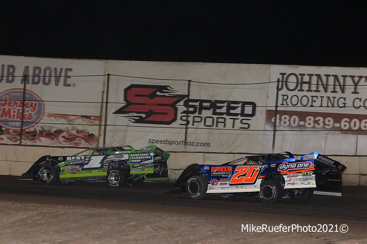 Tyler Erb and Ricky Thornton Jr - Dirt Late Model Racing - Arizona Speedway