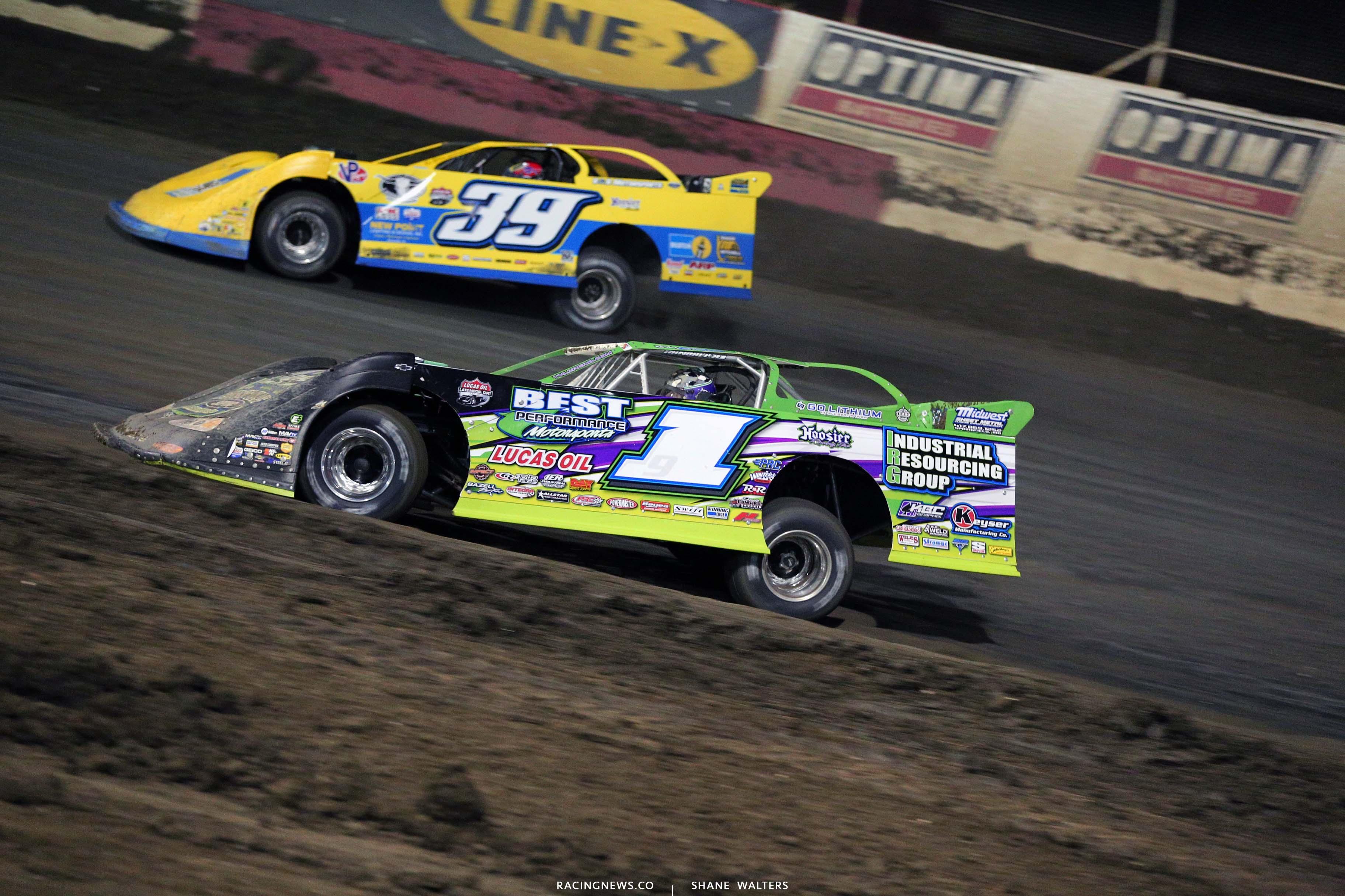 Tyler Erb and Tim McCreadie at East Bay Raceway Park - Lucas Series 8923