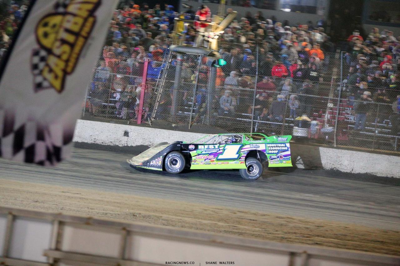 Tyler Erb wins at East Bay Raceway Park - Lucas Oil Late Model Dirt Series 8954