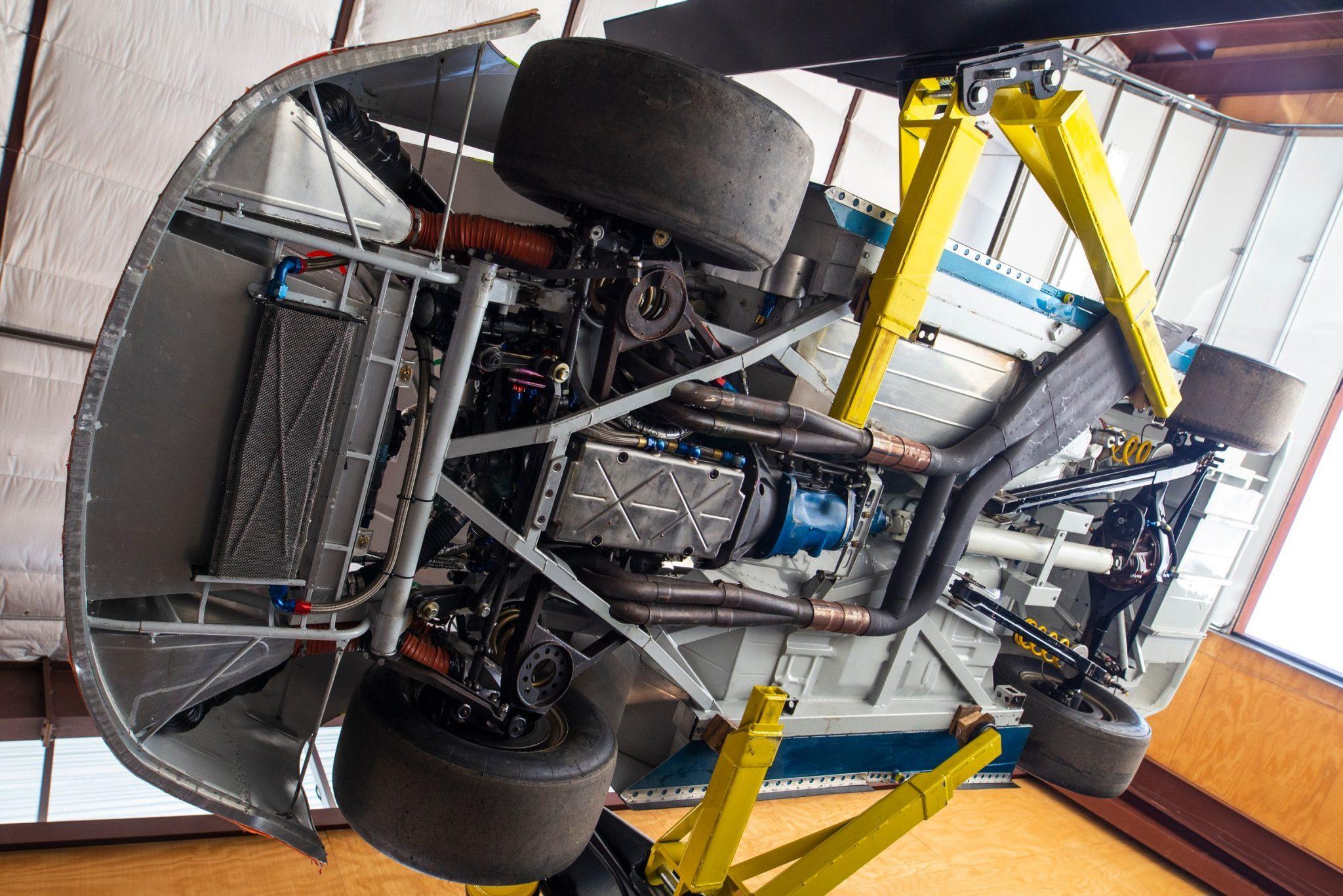 Under the 1997 Jeff Gordon machine
