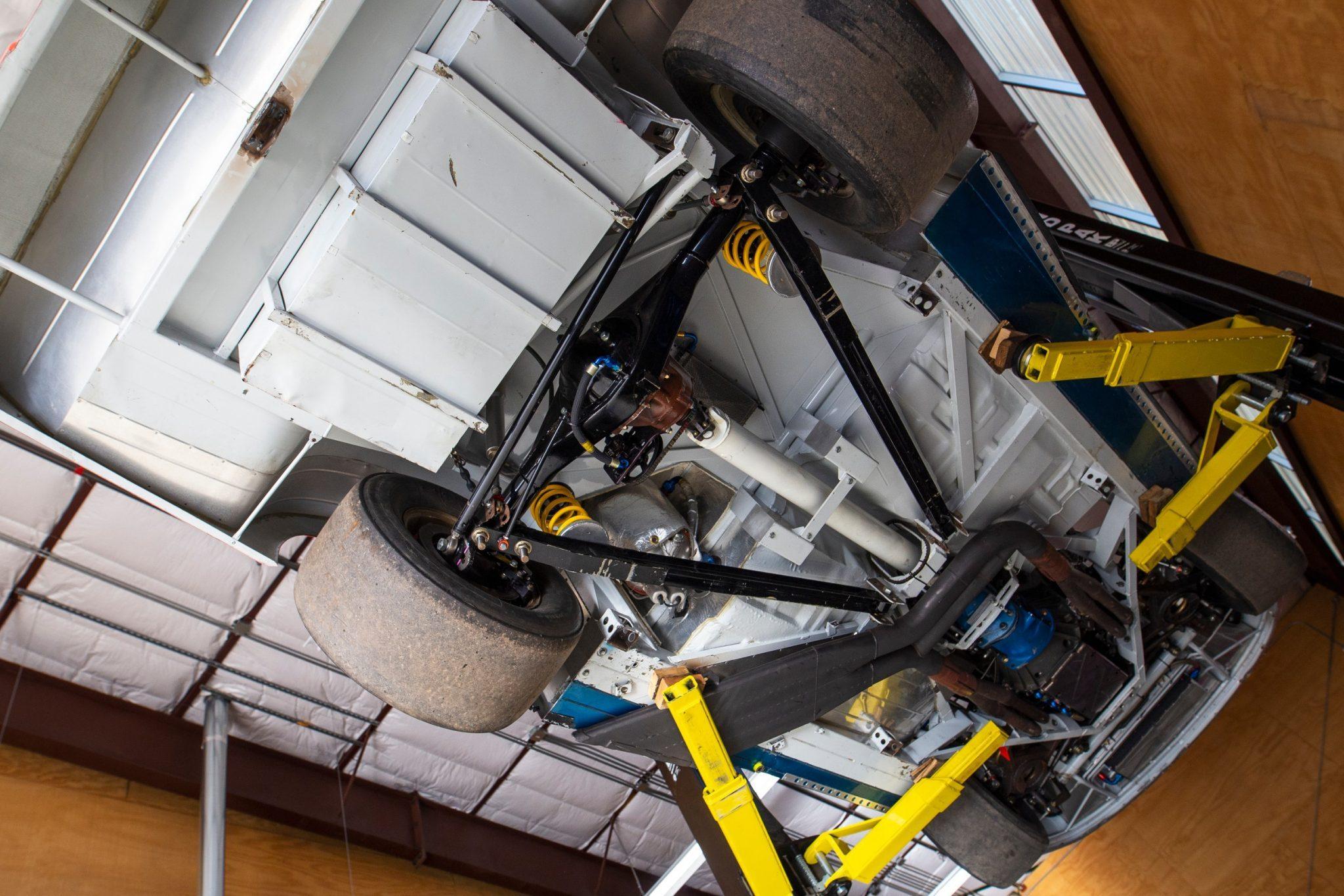 Underneath Jeff Gordon race car