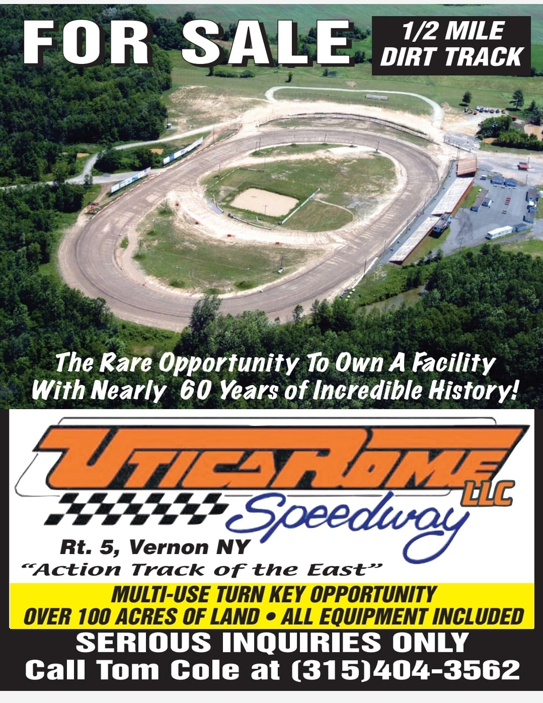 Utica-Rome Speedway for sale