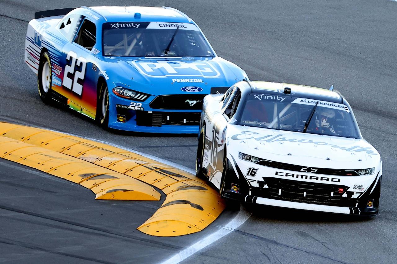 AJ Allmendinger and Austin Cindric - Daytona Road Course - NASCAR Xfinity Series
