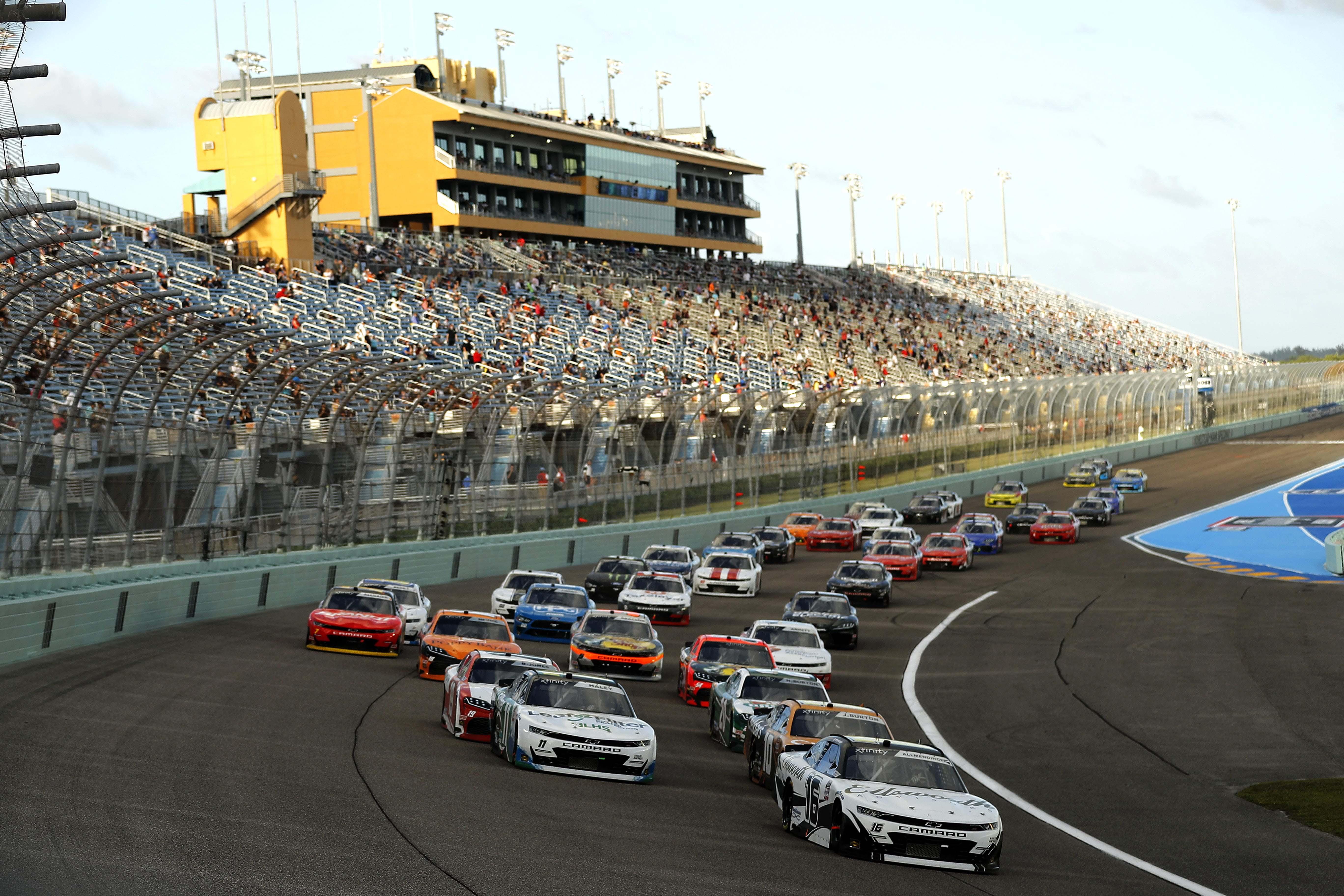 AJ Allmendinger and Justin Haley - Homestead-Miami Speedway - NASCAR Xfinity Series