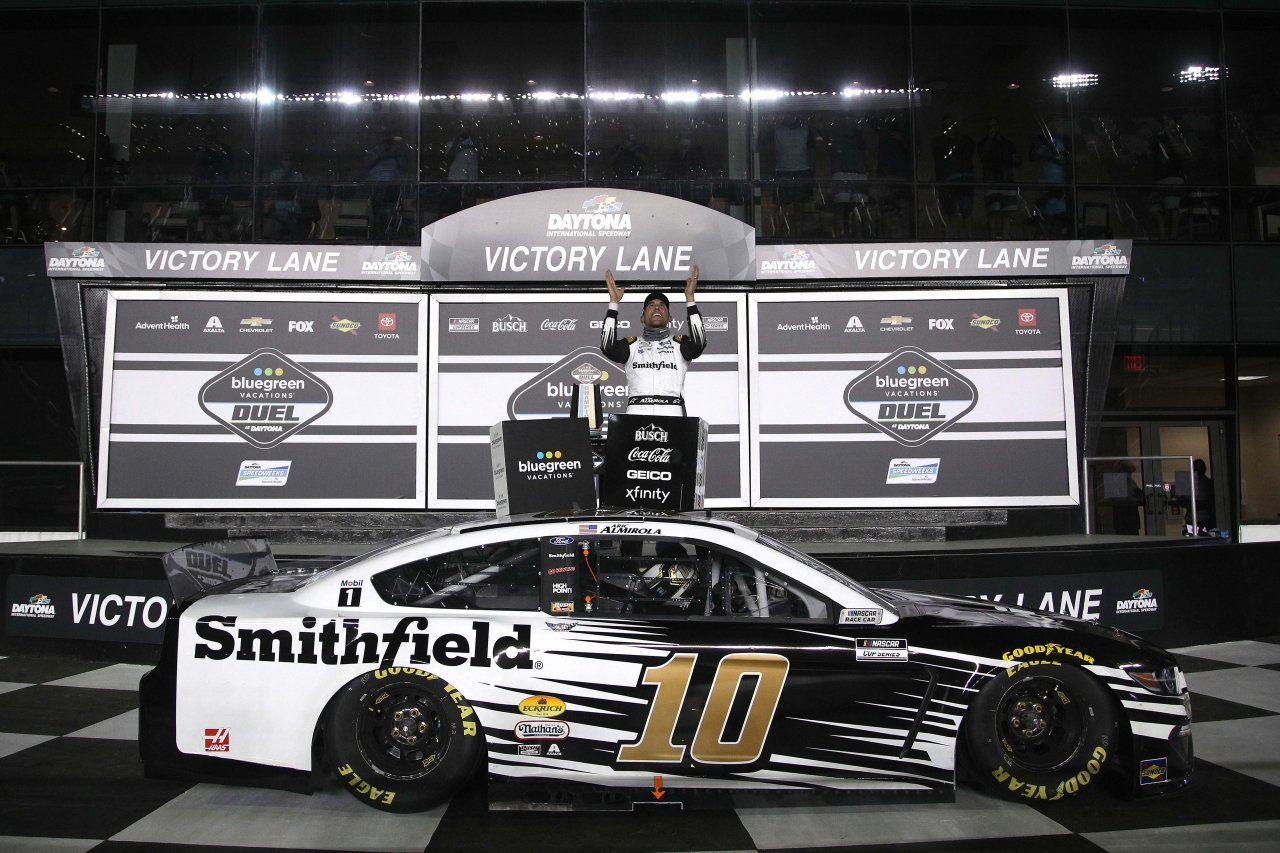 Aric Almirola wins Duel 1 at Daytona International Speedway - NASCAR Cup Series