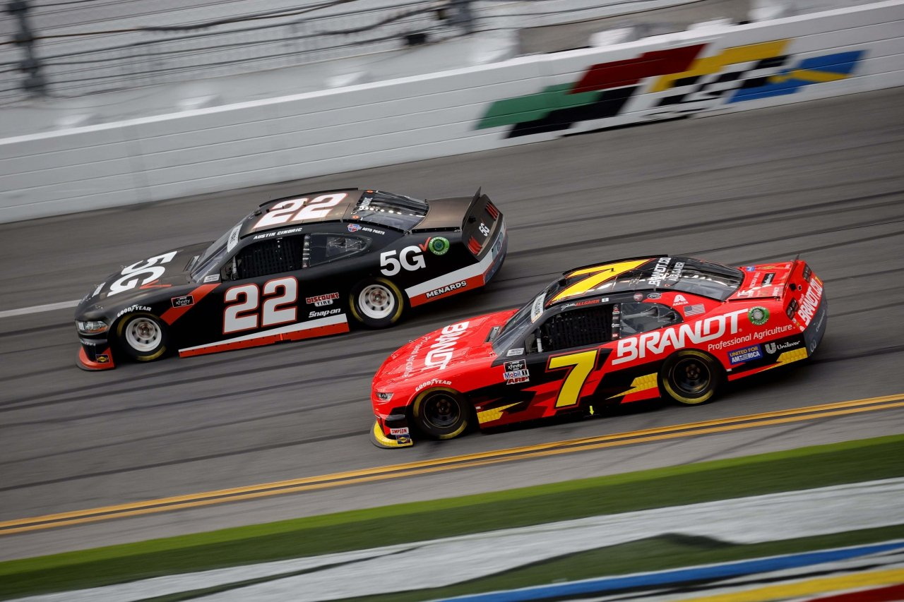 Austin Cindric and Justin Allgaier at Daytona International Speedway - NASCAR Xfinity Series