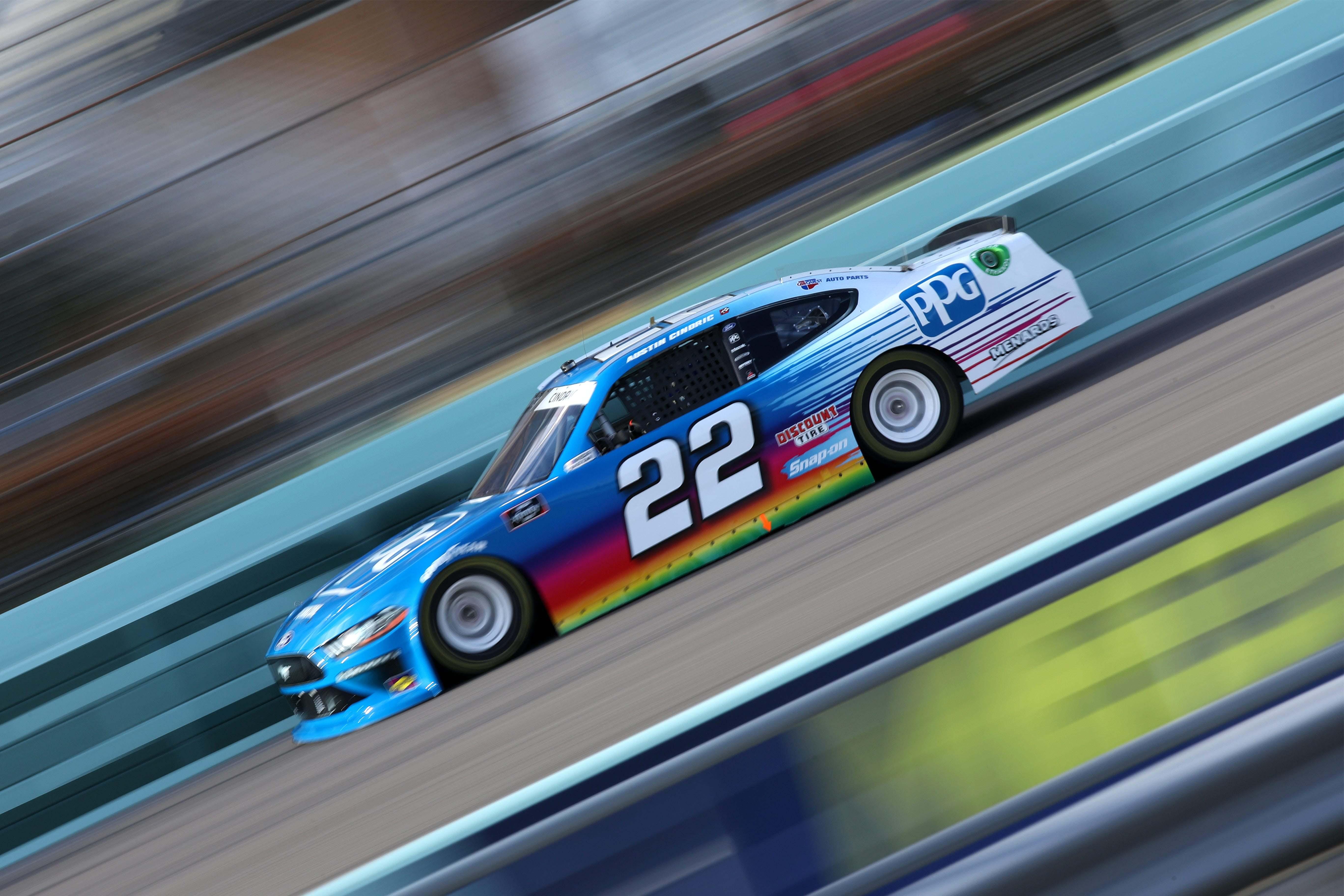 Austin Cindric at Homestead-Miami Speedway - NASCAR Xfinity Series