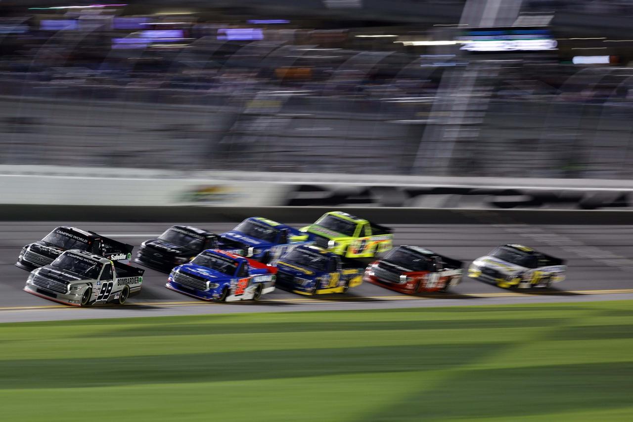 Ben Rhodes and Chandler Smith at Daytona International Speedway - NASCAR Truck Series