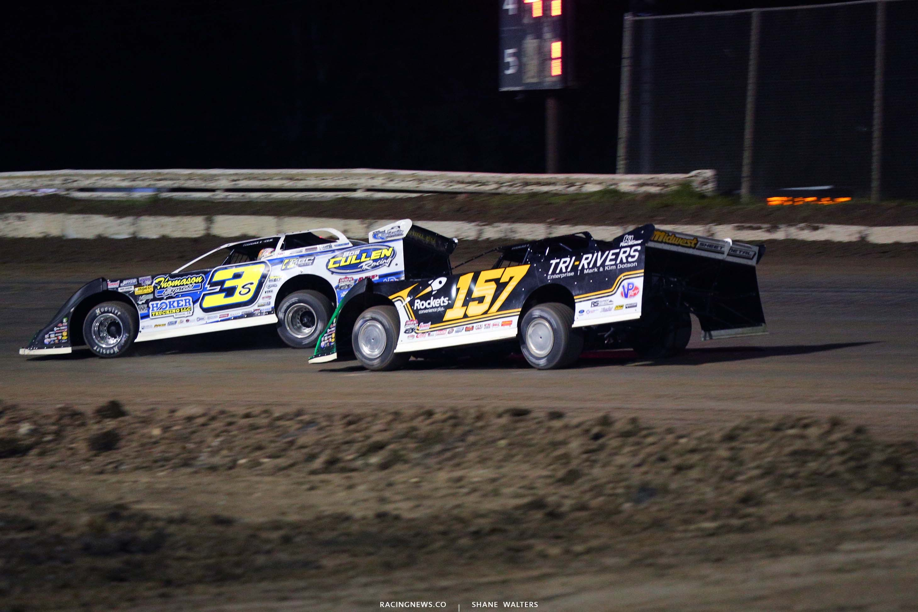 Brian Shirley and Mike Marlar at Bubba Raceway Park - Lucas Oil Late Models 9086