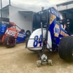 Chris Windom and Chase Elliott - USAC Midget - Bubba Raceway Park