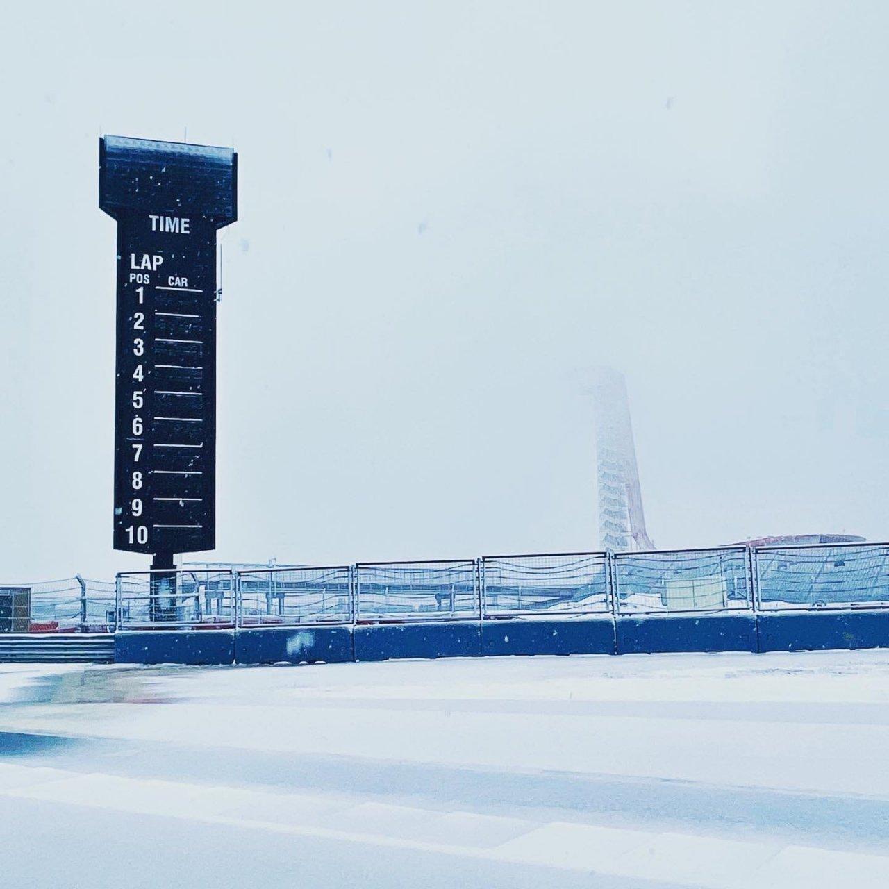 Circuit of the Americas - Snow fall