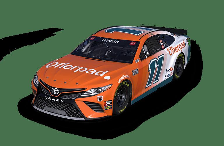 Denny Hamlin - Offerpad race car - NASCAR Cup Series Toyota