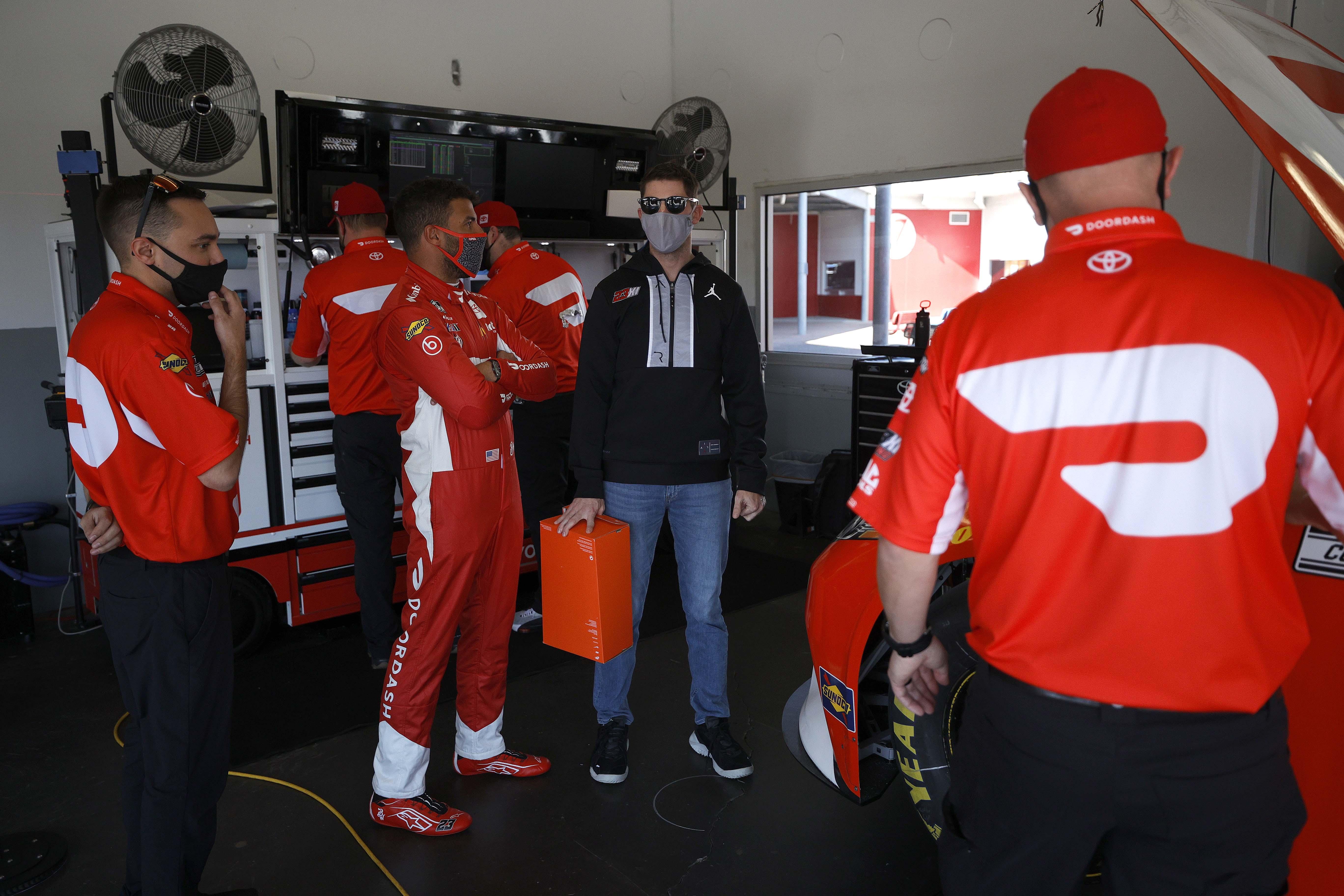 Denny Hamlin and Bubba Wallace - 23XI Racing - Daytona International Speedway - NASCAR Cup Series