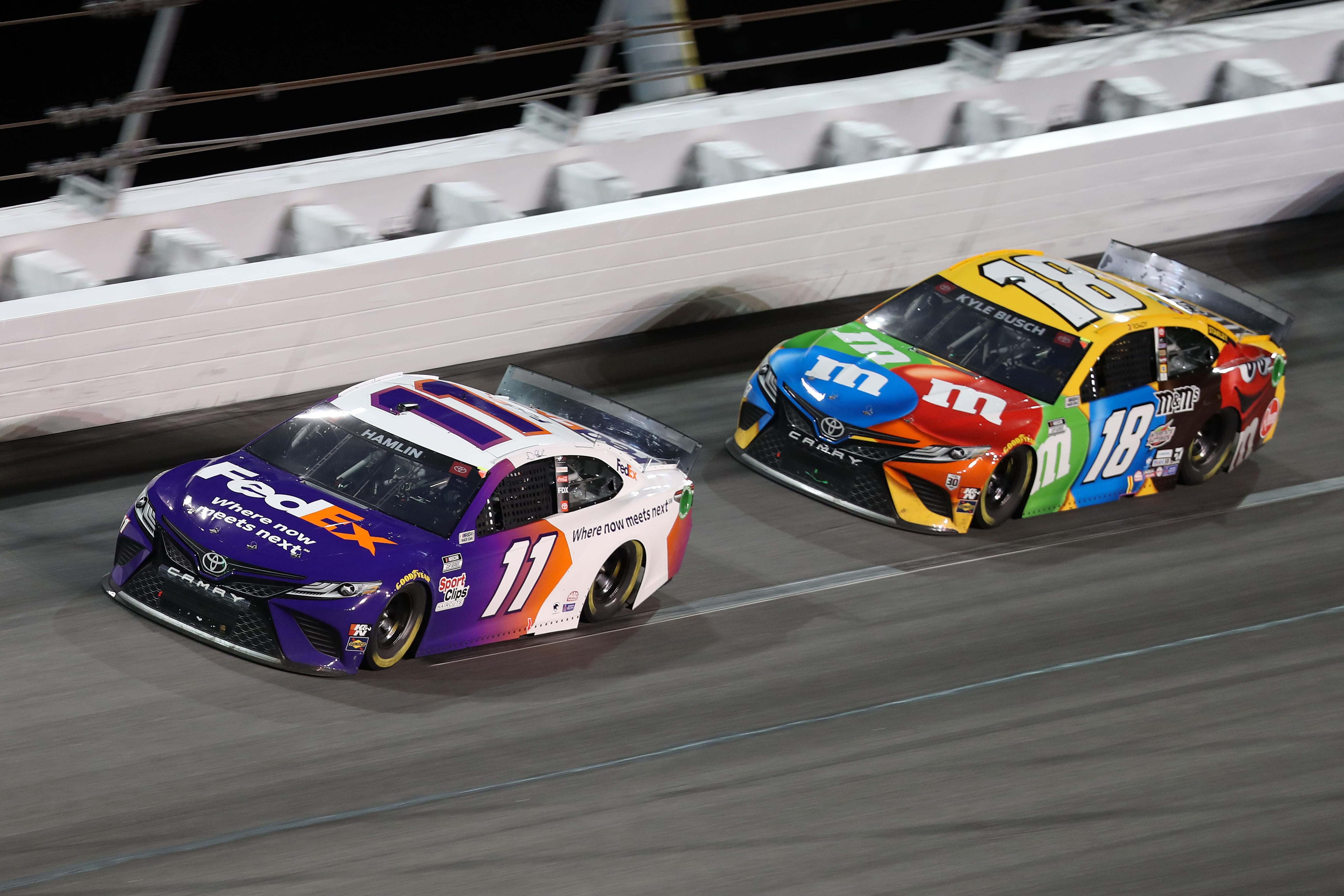 Denny Hamlin and Kyle Busch - Daytona 500 - NASCAR Cup Series