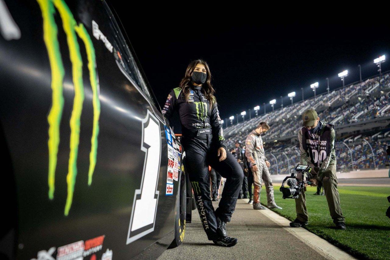 Hailie Deegan at Daytona International Speedway - NASCAR Truck Series driver