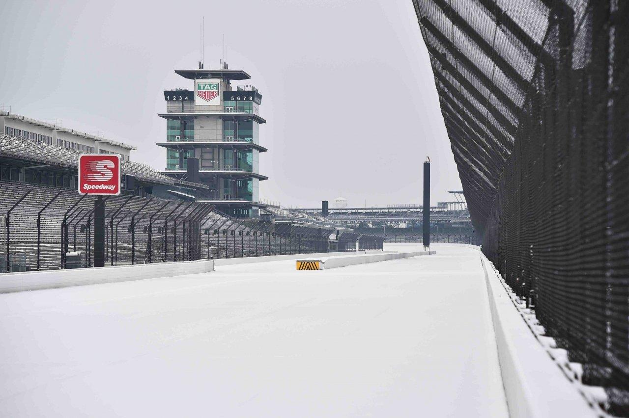 Indianapolis Motor Speedway - Snow storm