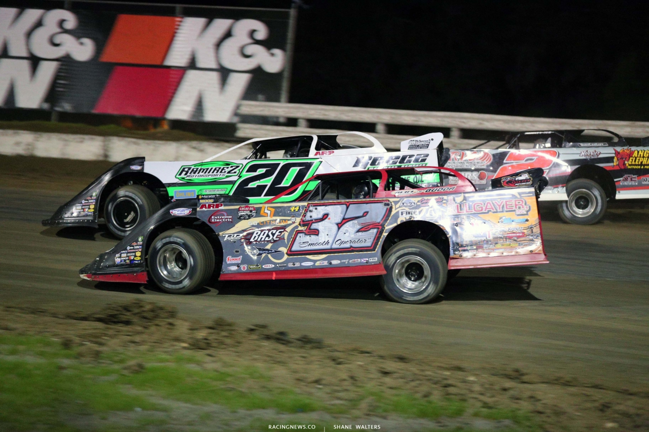 Jimmy Owens and Bobby Pierce at Bubba Raceway Park - Lucas Late Models 9353