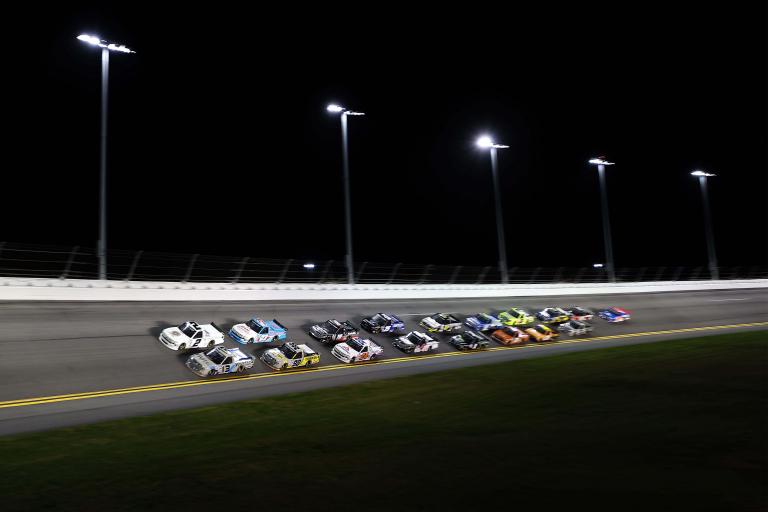 Johnny Sauter and Sheldon Creed at Daytona International Speedway - NASCAR Truck Series