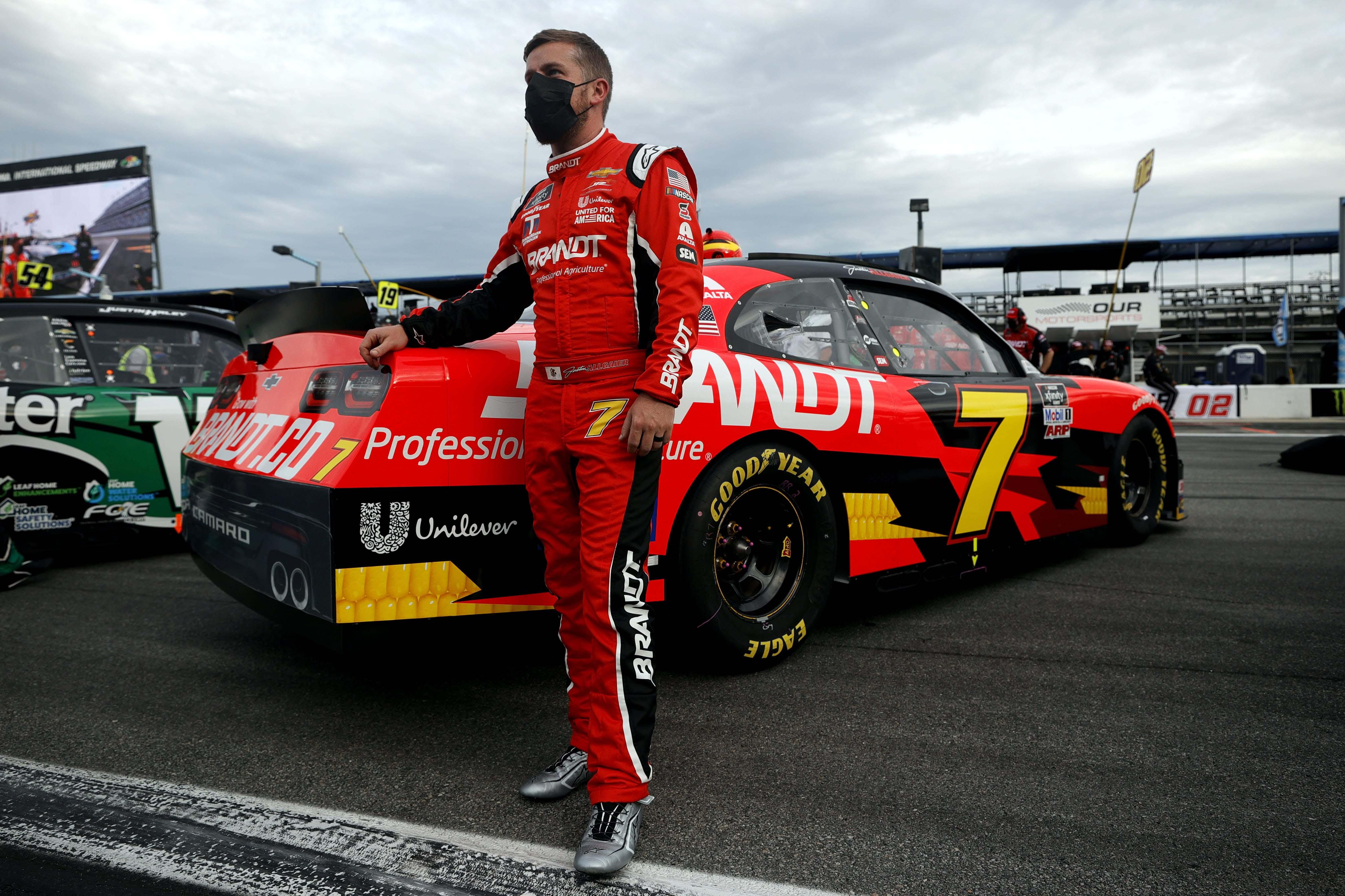 Justin Allgaier on the grid at Daytona International Speedway - NASCAR Xfinity Series