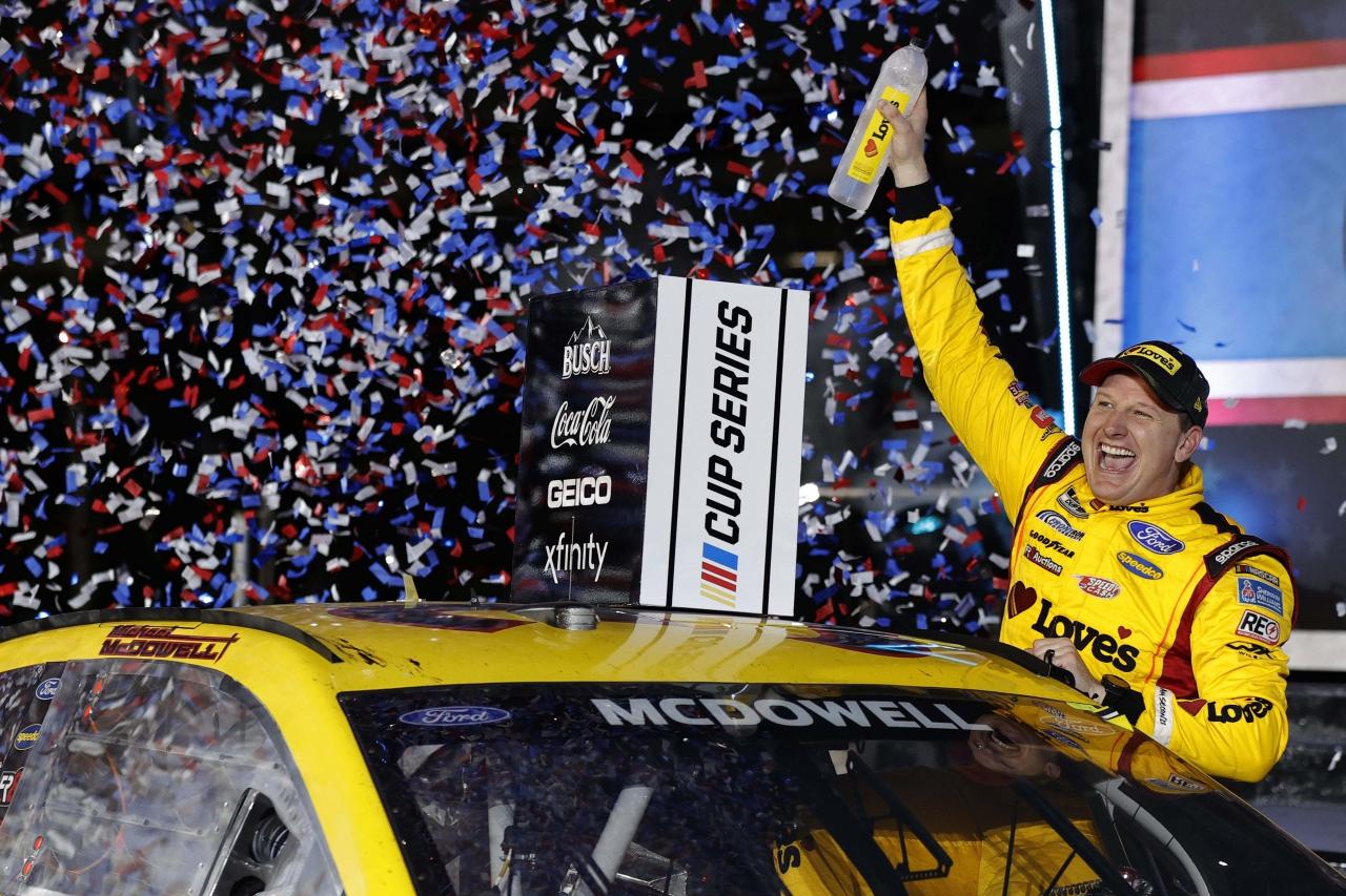 Michael McDowell wins the Daytona 500 - NASCAR Cup Series