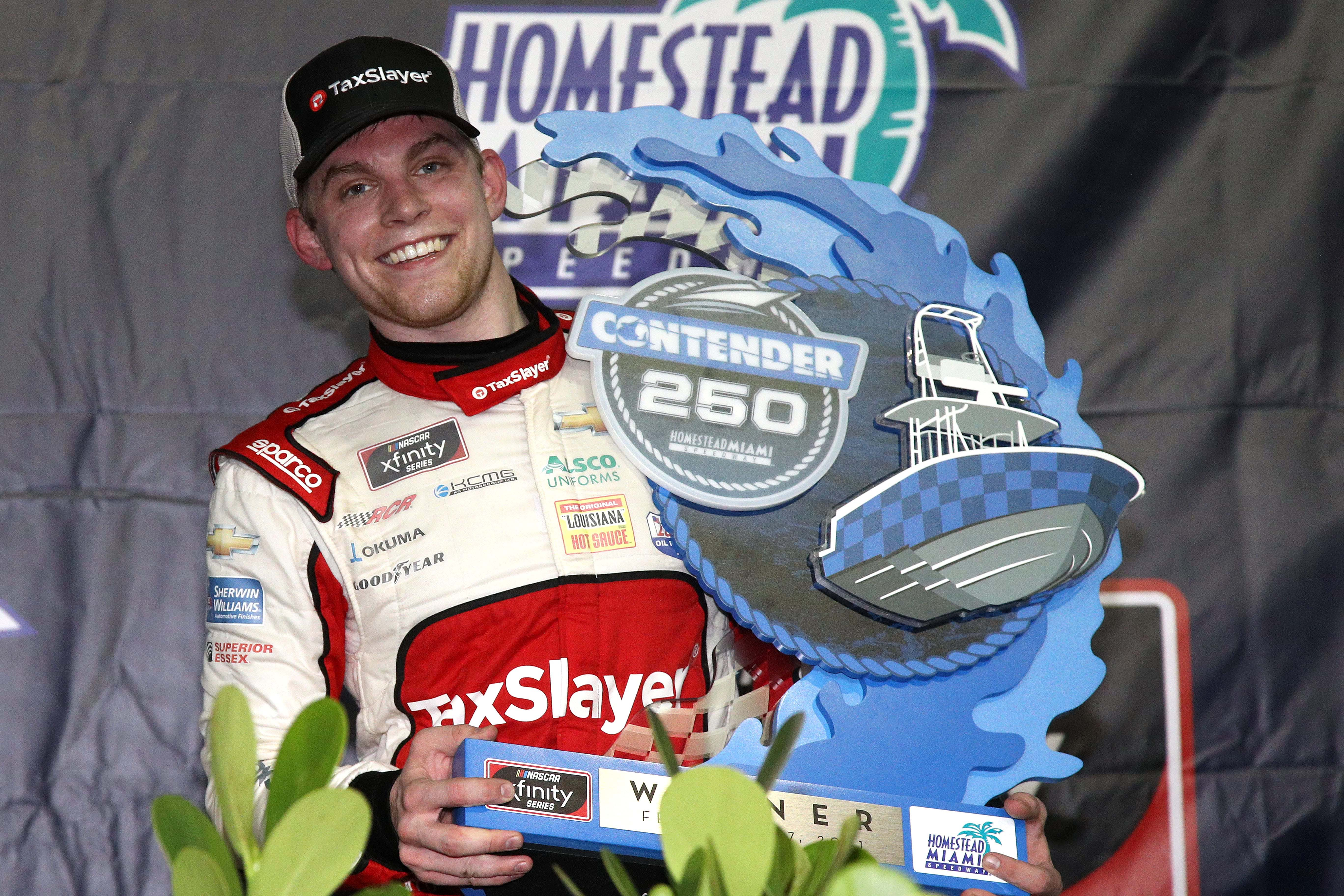 Myatt Snider in victory lane at Homestead-Miami Speedway - NASCAR Xfinity Series