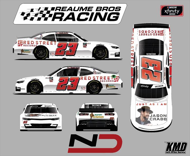 Natalie Decker - Reaume Brother Racing paint scheme